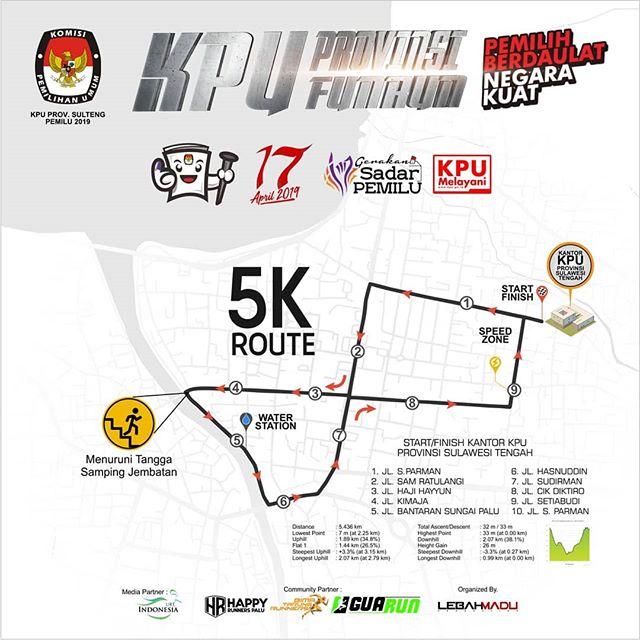 KPU Fun Run - Provinsi Sulawesi Tengah • 2019