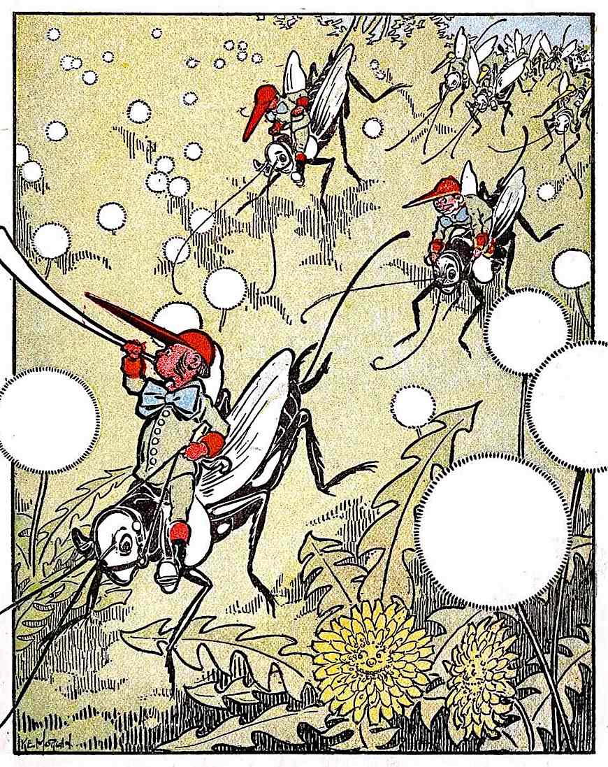 an Ike Morgan 1909 children's book illustration