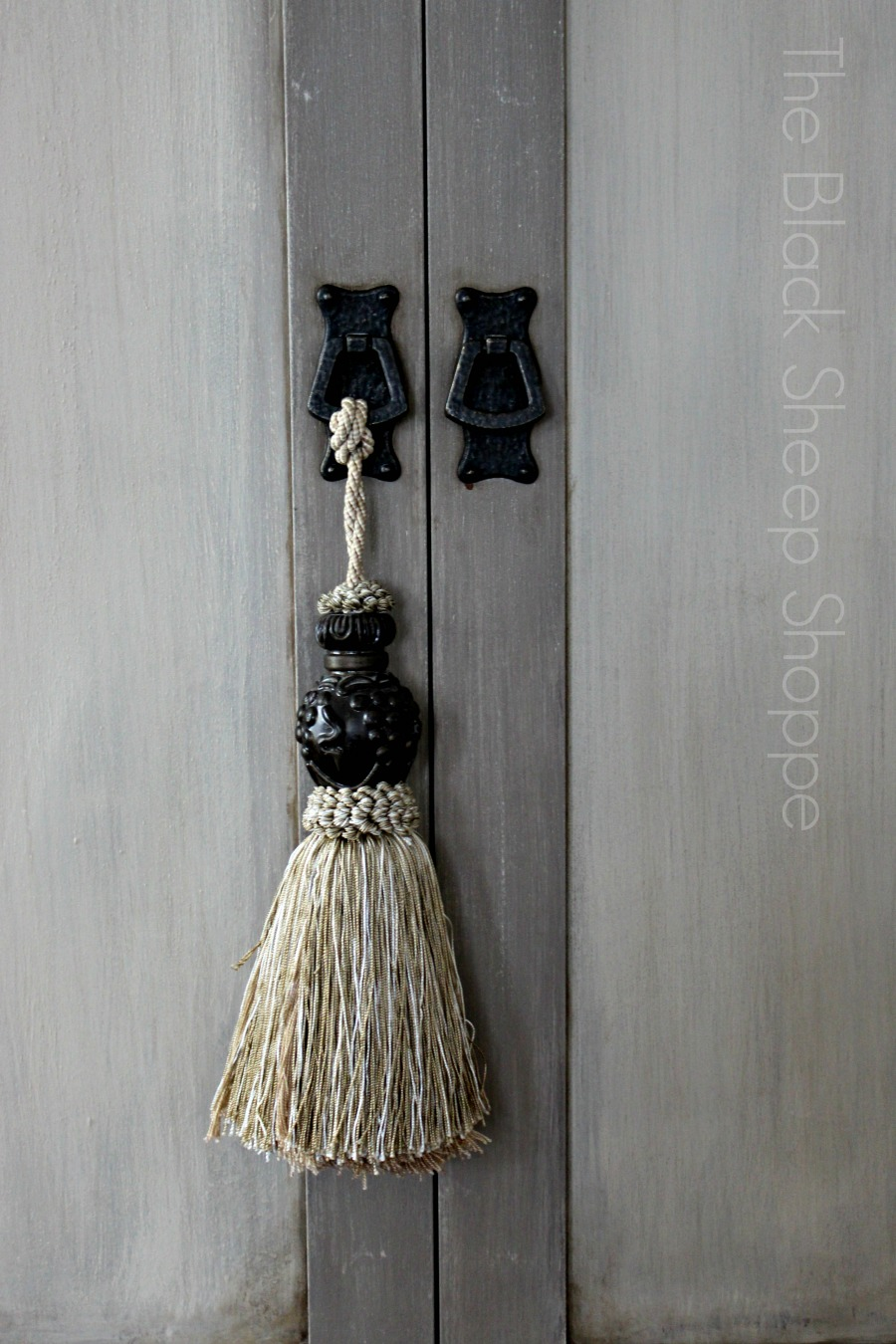 Armoire knobs and furniture tassel