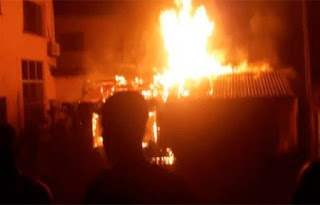 Obasanjo's House In Abeokuta On Fire (Photo)