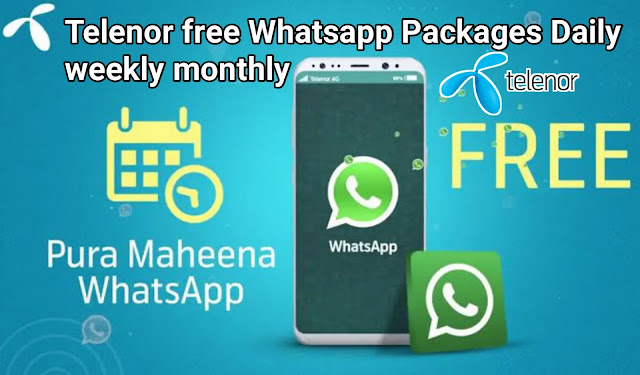 telenor free whatsapp code