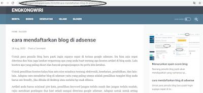 copy ling url blog