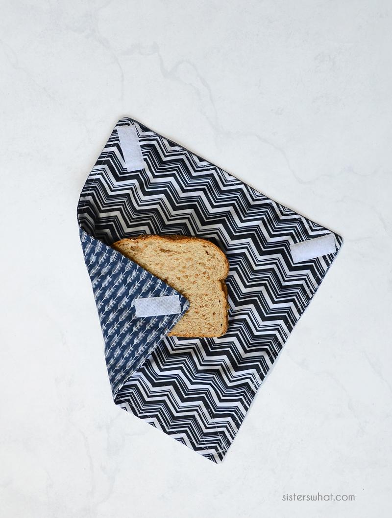 DIY reusable sandwich wrap sewing