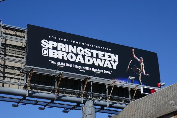 Springsteen on Broadway Emmy FYC billboard
