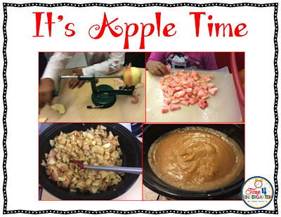 apple, torn paper art, kindergarten art, crockpot applesauce