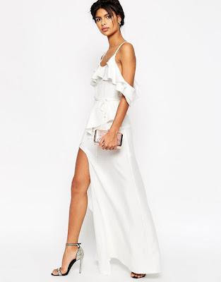 vestidos largos con corte en la pierna