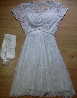 vestido TQC branco rendado P