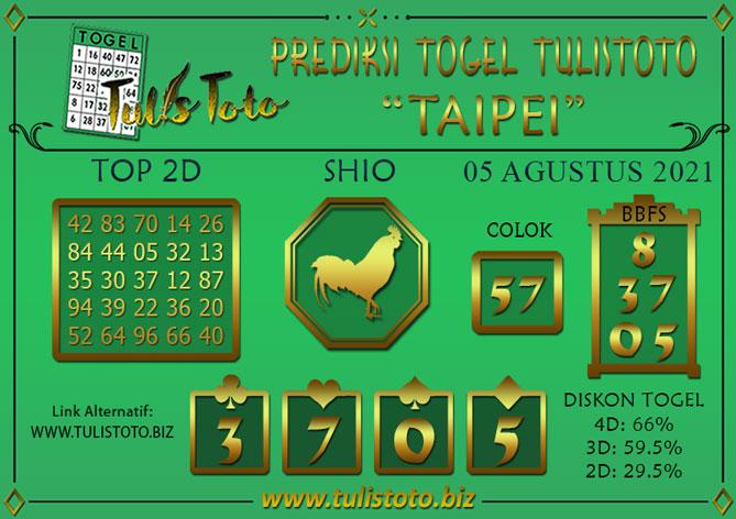 Prediksi Togel TAIPEI TULISTOTO 05 AGUSTUS 2021