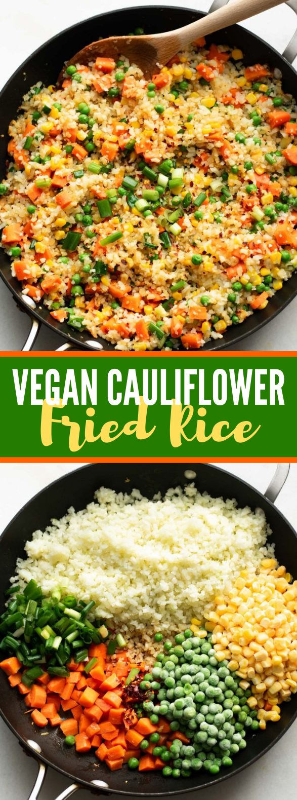HEALTHY VEGAN CAULIFLOWER FRIED RICE #veganrecipe #lowcarb
