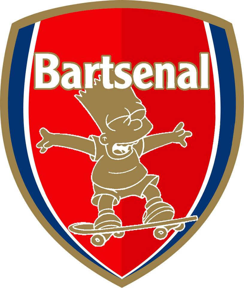 The Simpsons' version logo of Arsenal