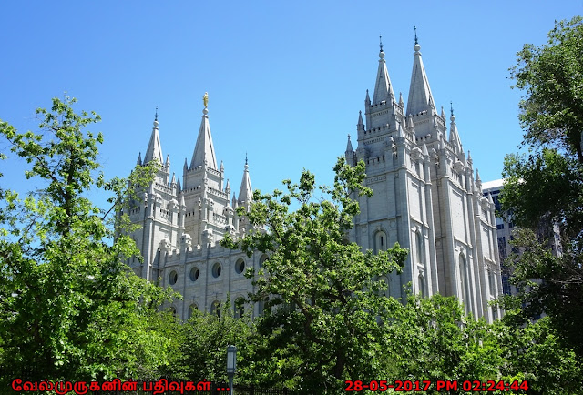 Uttah Temple Square in Salt Lake City
