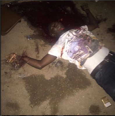 Man Gruesomely Murdered By Cultist In Ikorodu Area Of Lagos.. Very Graphic Photo