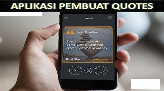 Aplikasi Pembuat Quotes