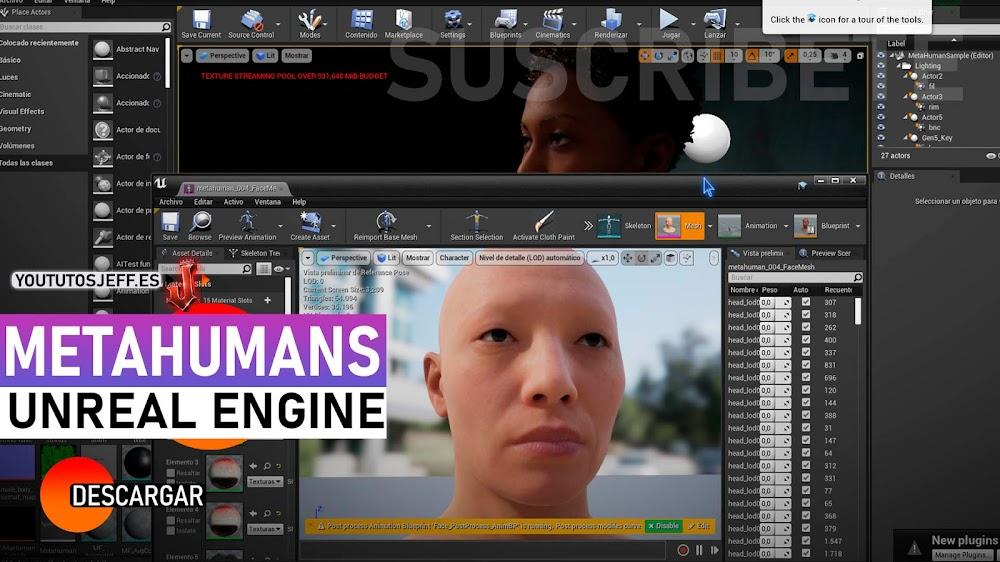 Descargar MetaHumans para Unreal Engine GRATIS | Creación de Humanos Digitales