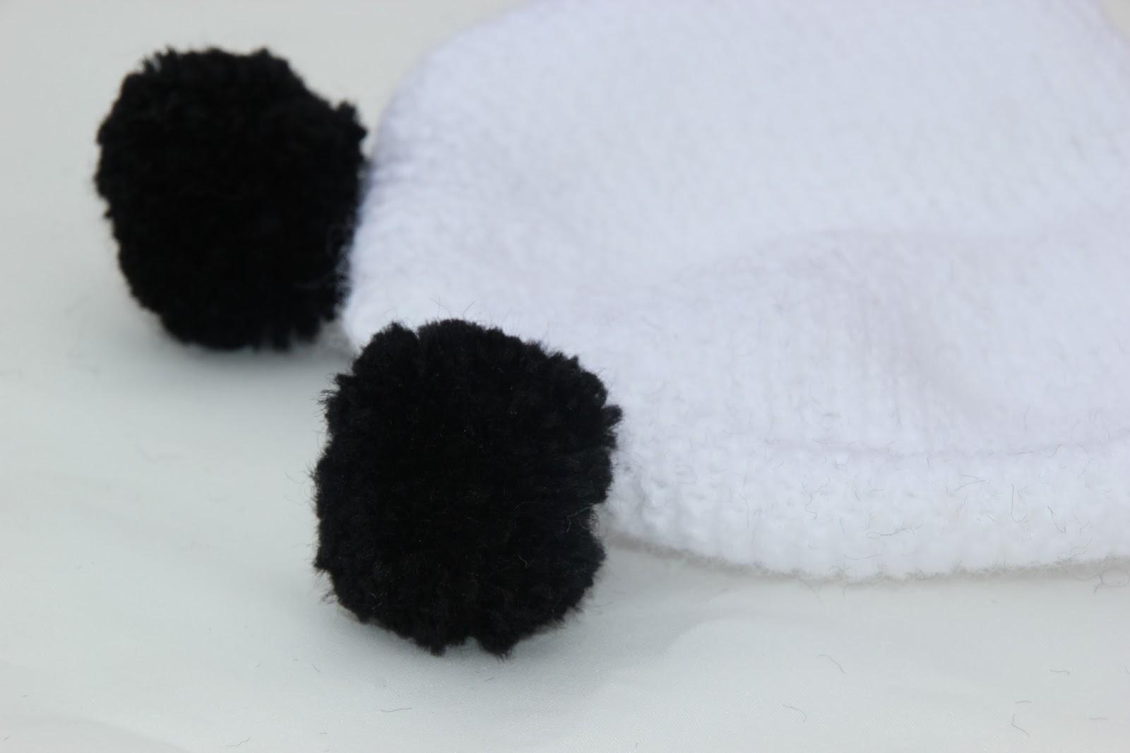 DIY Cómo hacer gorro de lana con orejas para bebe (panda)  7e7a38968bd