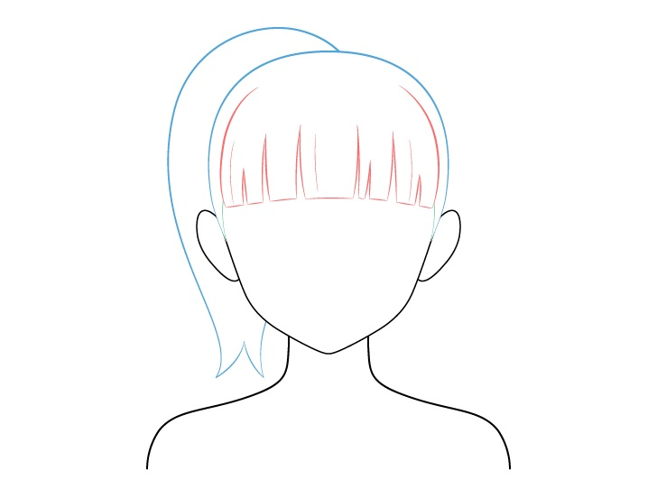 Menggambar Anime Pony Tail Tied Back Hair.jpg
