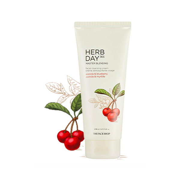 Kem Tẩy Trang HERB DAY 365 MASTER BLENDING FACIAL CLEANSING CREAM ACEROLA&BLUEBERRY 170ml