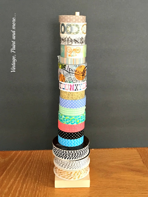 washi tape on diy washi tape organizer