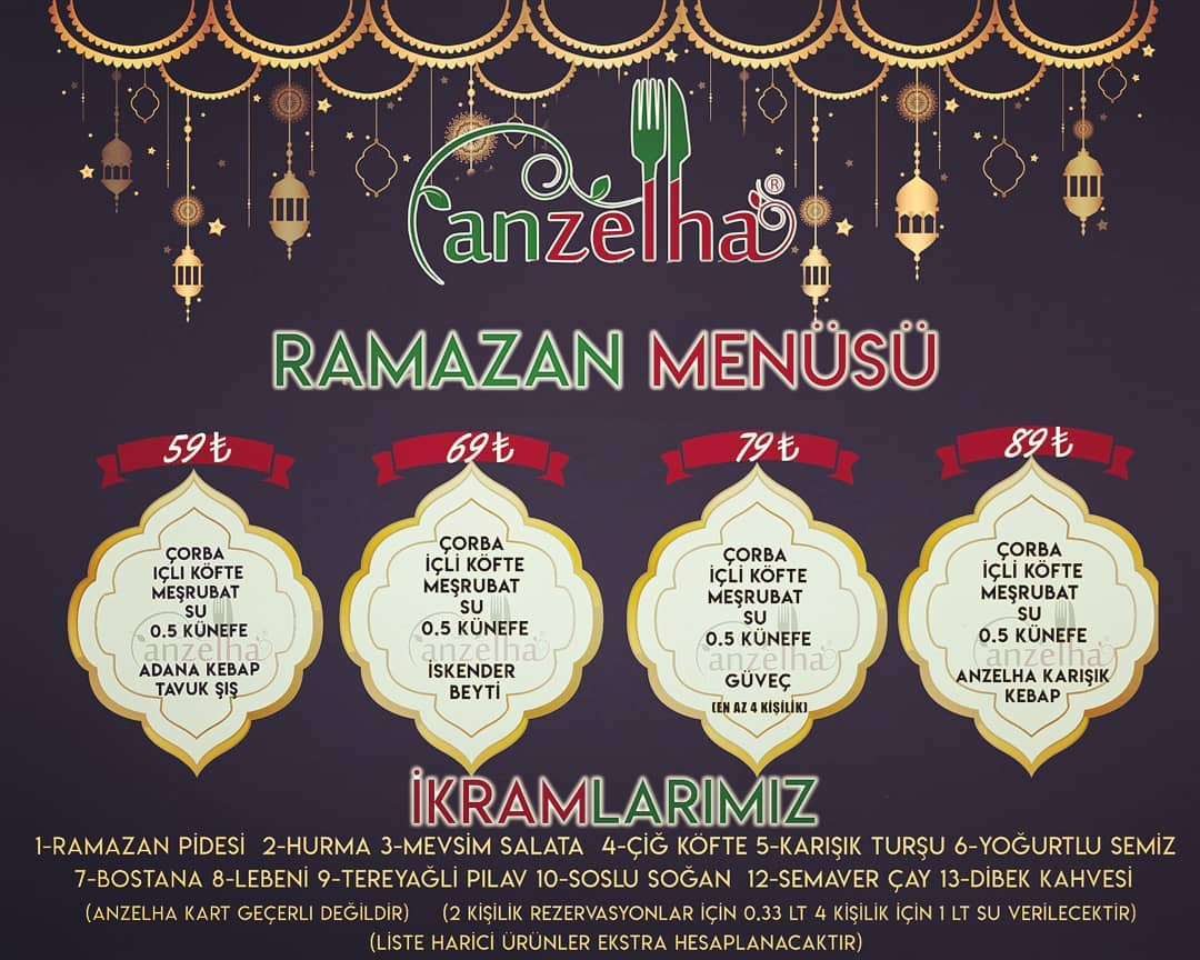 anzelha batıkent ramazan menüsü ankara batıkent iftar mekanları ankara batıkent iftar menüleri