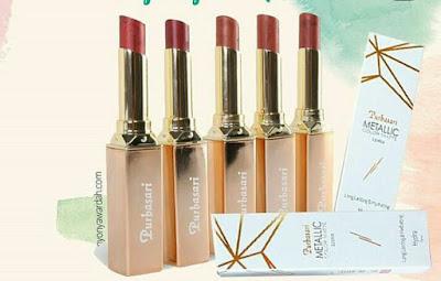 Purbasari Metallic Color Matte Lipstick Long Lasting Original Glitter