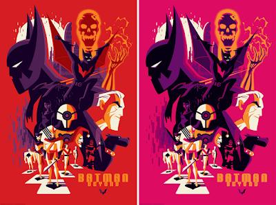 Batman Beyond Screen Print by Tom Whalen x Bottleneck Gallery x Justin Ishmael