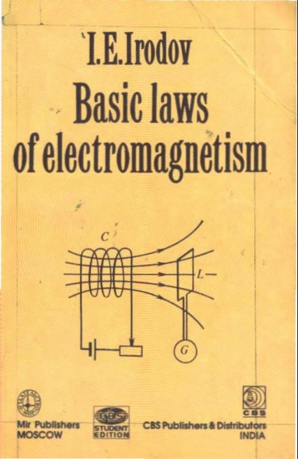 Basic laws of electromagnetism by I. E Irodov in pdf