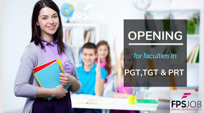 TGT PGT And PRT Faculties Opening In India