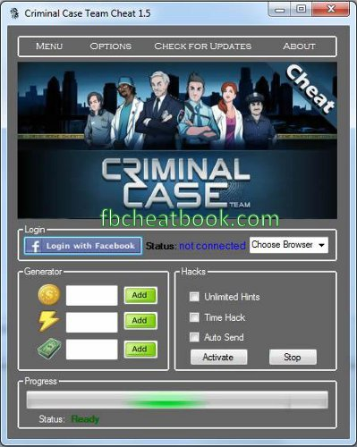 Criminal Case Cheats and Hack