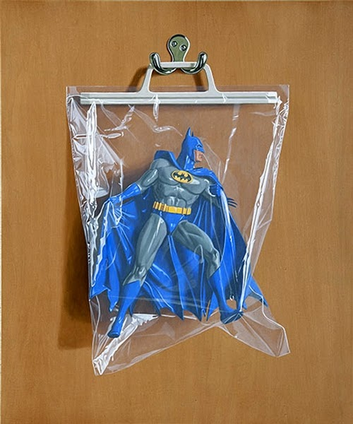 05-Bruce-Wayne-Batman-Simon-Monk-Bagged-Superheroes-in-Painting-www-designstack-co