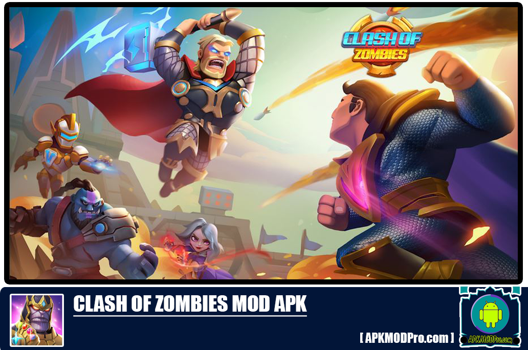 X- War Clash Of Zombie MOD APK 3.10.7 [Unlocked All & Unlimited Cristal]