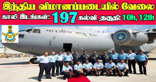 Indian Air Force Recruitment 2021 197 Group C Posts