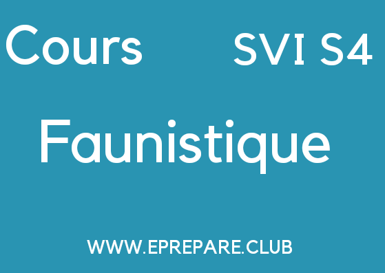 Cours de Faunistique SVI Semestre S4 PDF