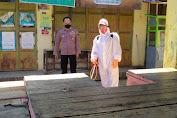 Satgas Covid-19 Kecamatan Karanganyar Semprot Disinfektan