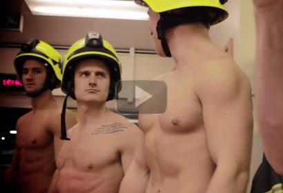 Firemen Get Semi Naked for More! Magazine