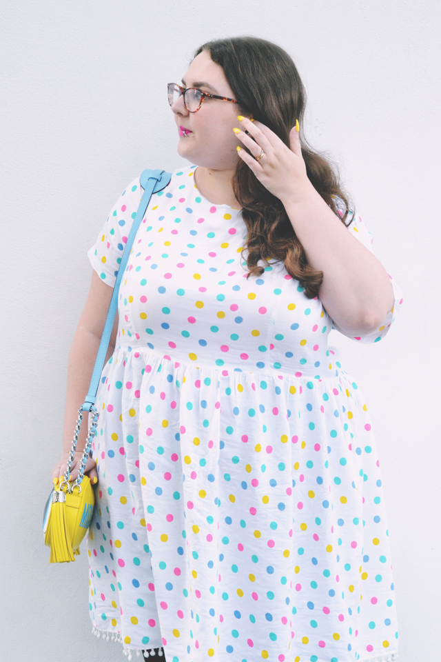 Sprinkle of Glitter polkadot dress