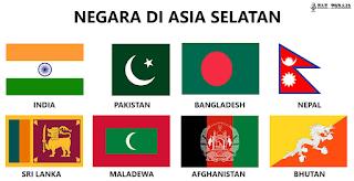 Bendera Negara Di Asia Selatan