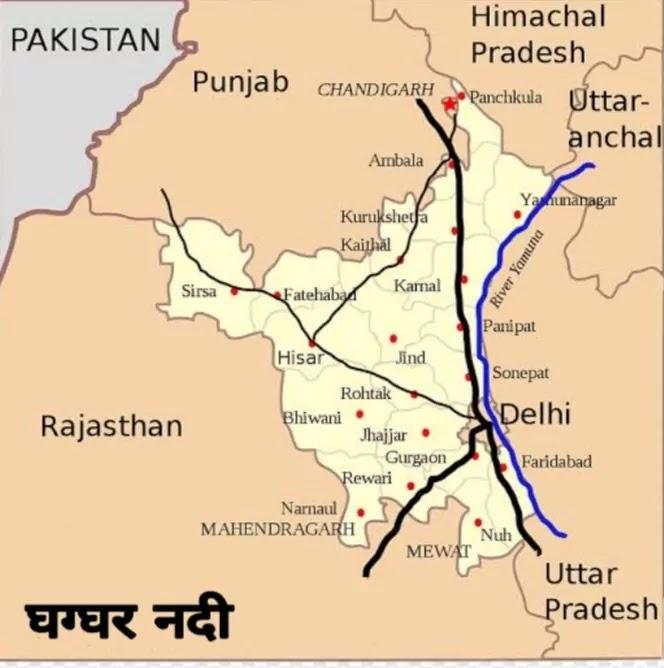 Rajasthan Ki Nadiya Map