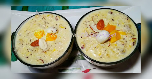 Oats Mango Custard Kheer  Or Oats Mango Custard Phirni