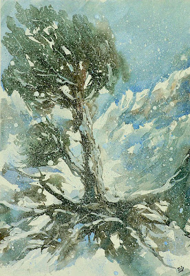BluOltremare Paesaggi invernali 5  Winter landscapes 5