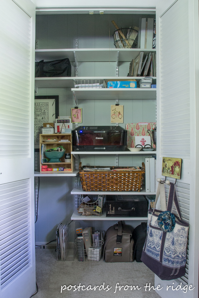From Junk Closet to Organized Office Closet Postcards from the Ridge