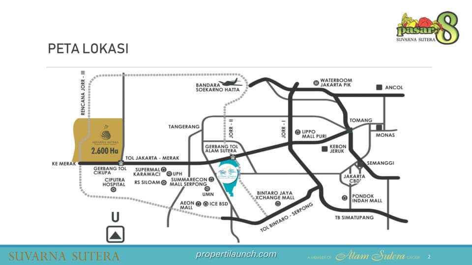Peta Lokasi Pasar 8 Suvarna Sutera