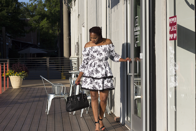 Off Shoulder DIY Dress Tutorial | Mccall 7563