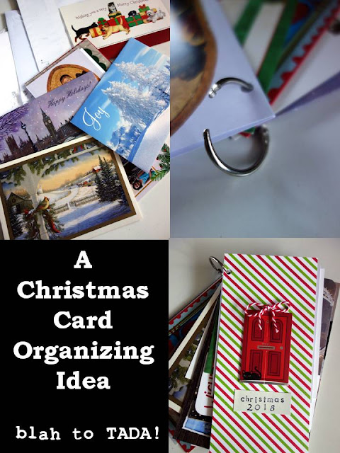 A Christmas Card Organizing Tip