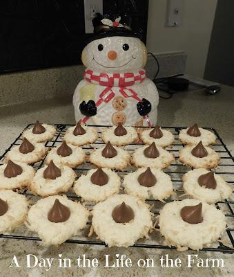 Macaroon Kiss Christmas Cookies