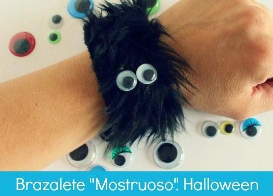"Como hacer un Brazalete ""Mostruoso"". Halloween"