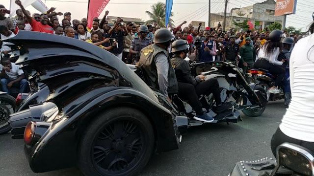 donald duke turn up at bikers parade