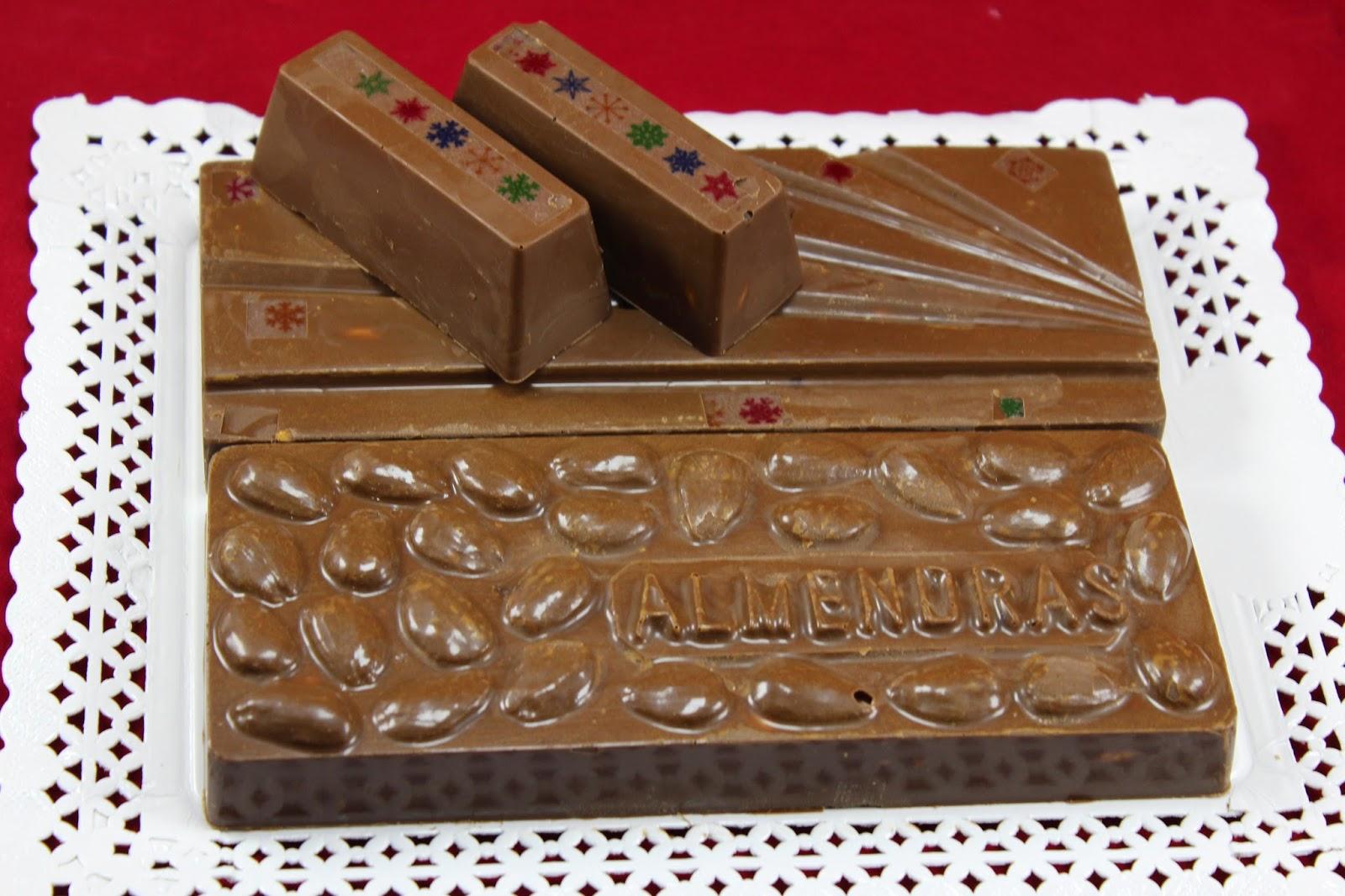 Turrón de chocolate y almendras Ana Sevilla con Thermomix