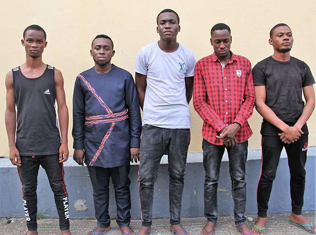 EFCC Arrests Five Suspected Internet Fraudsters, Recovers N31m