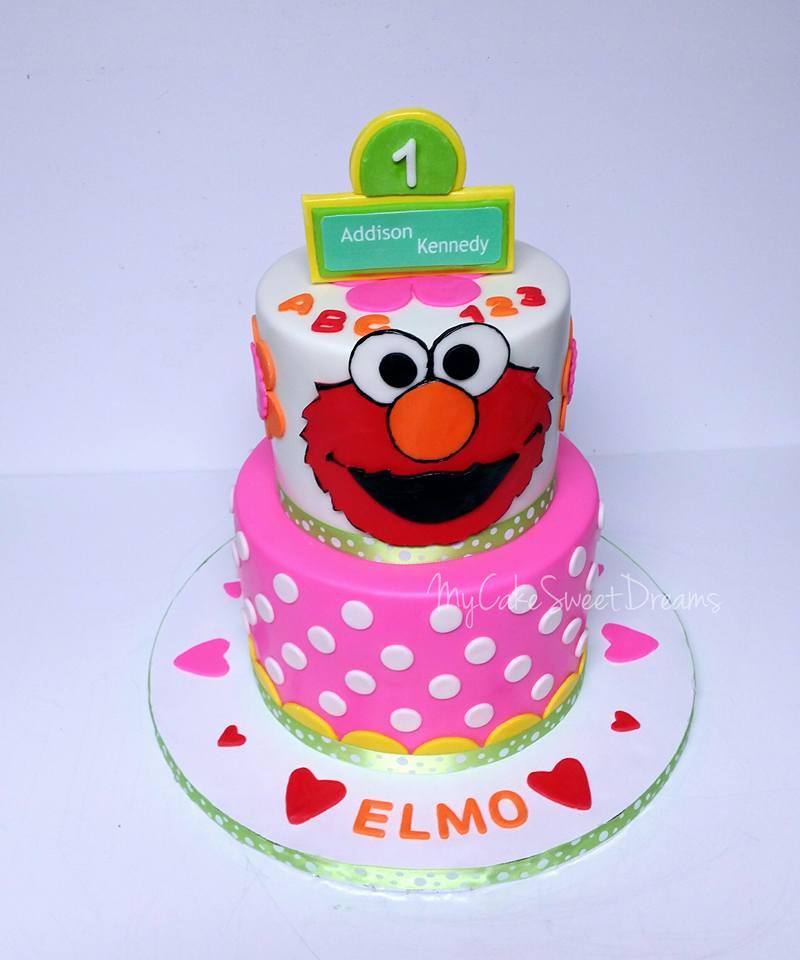 My Cake Sweet Dreams Elmo 1st Birthday Cake