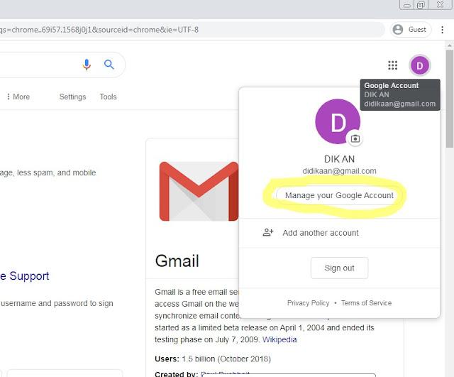 cara menghapus akun google permanen di laptop / komputer